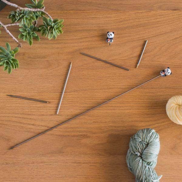 Agujas rectas intercambiables HiyaHiya The Incredible Lana Box Interchangeable Straight Needles