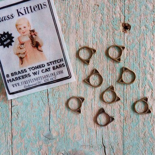 Marcadores de gatito / Brass kitten stitch marker