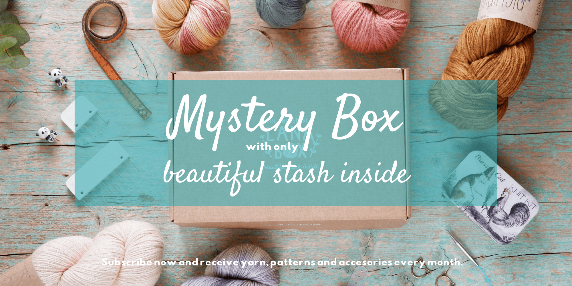 Mystery Box with only the best for knitters